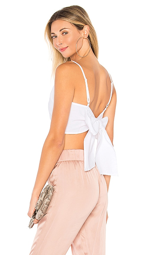 by the way. Morgon Tie Back Crop Top in White