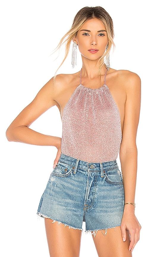 Samantha Metallic Knit Bodysuit