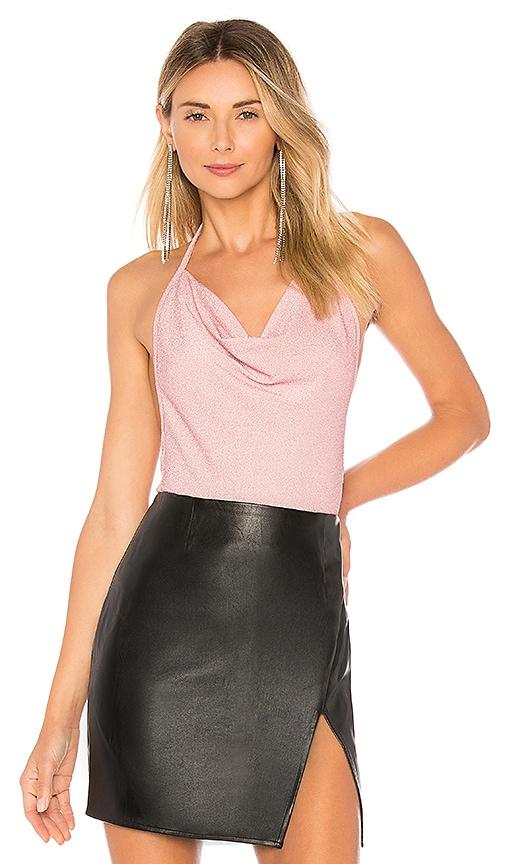 Angelina Metallic Halter Bodysuit