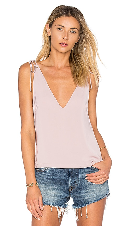 by the way. Ellie Tie Tank in Mauve
