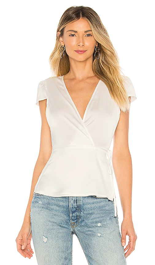Elliot Satin Wrap Top