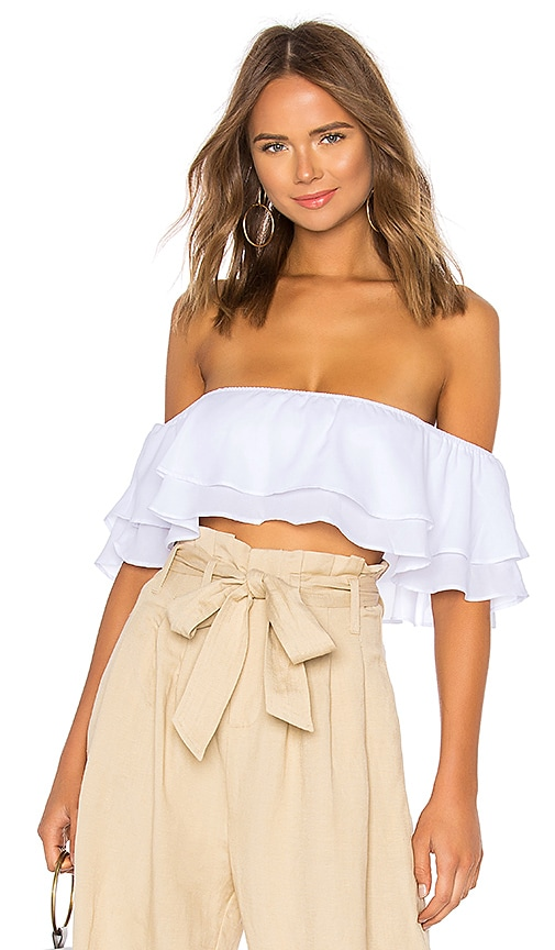 by the way. Susan Off Shoulder Top in White