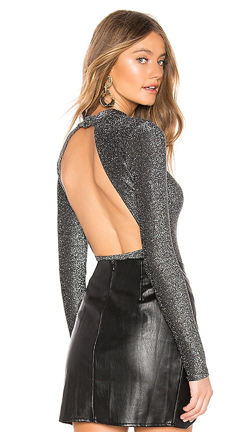 Kam Long Sleeve Open Back Bodysuit