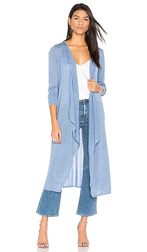 BROWN ALLAN The Draped Duster Cardigan in Blue