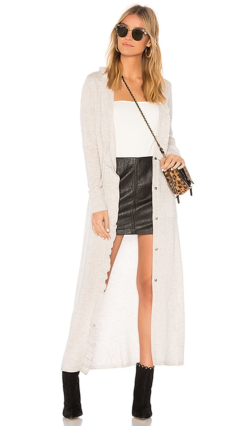 BROWN ALLAN x REVOLVE The Ruffle Cardigan in Light Gray