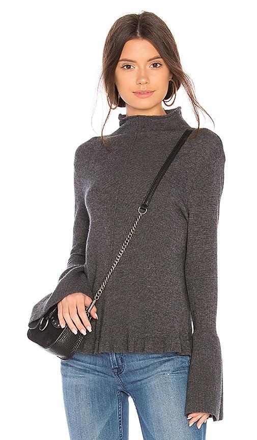 BROWN ALLAN Ruffle Sweater in Gray