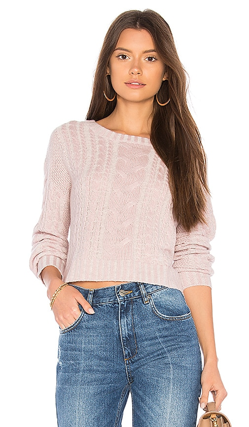 BROWN ALLAN Snow Dust Sweater in Pink