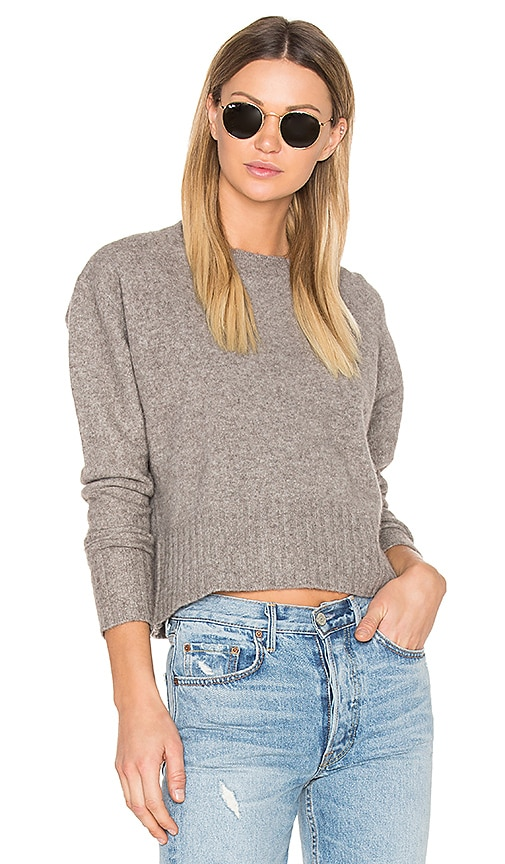 BROWN ALLAN Crop Sweater in Taupe
