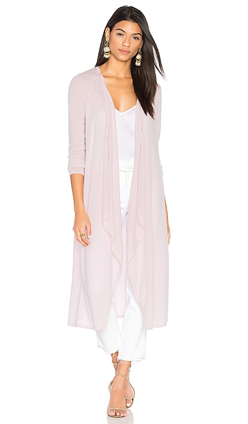 BROWN ALLAN The Draped Duster Cardigan in Pink