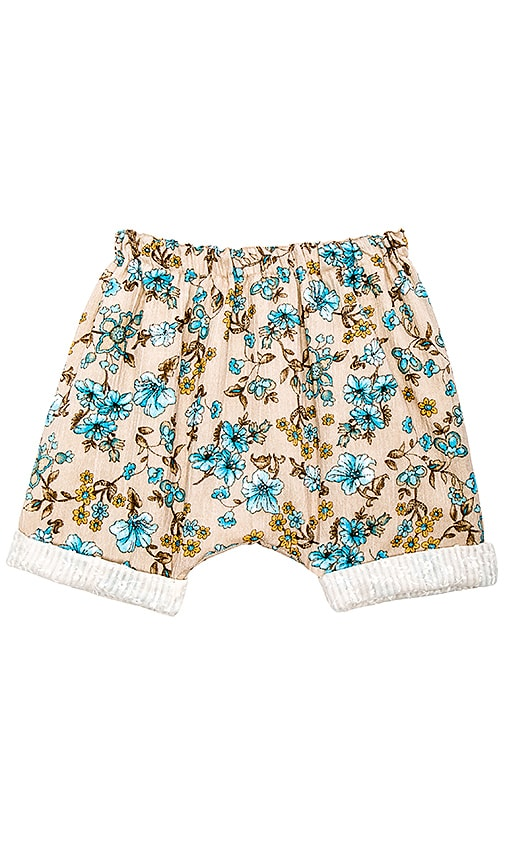 Born by the Shore Baby Blossom Shorts in Taupe
