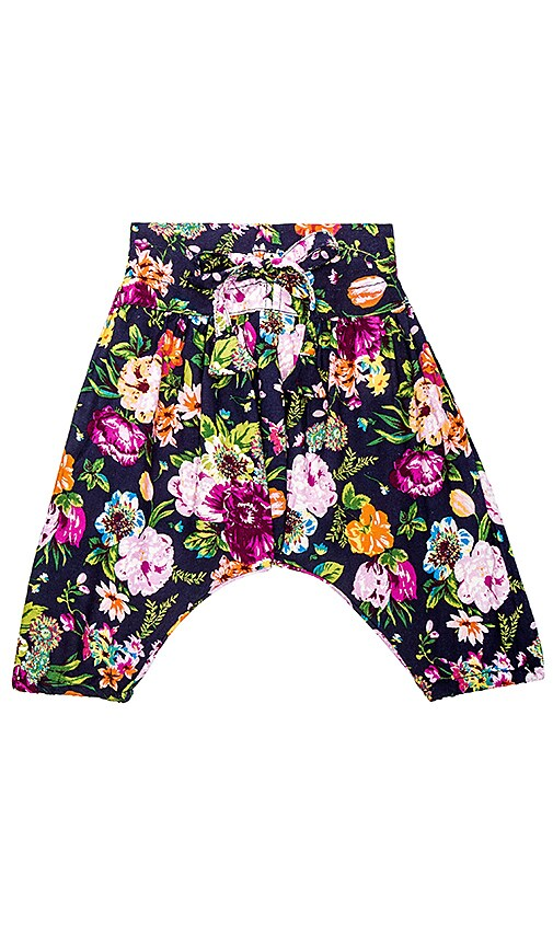 Born by the Shore Baby Harem Pant in Night Flowers