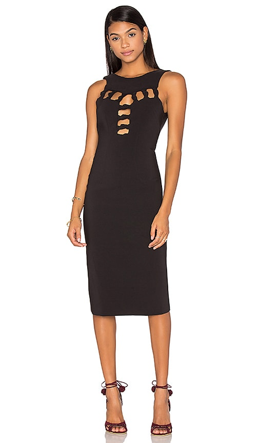 By Johnny Open Knot Front Dress in Black