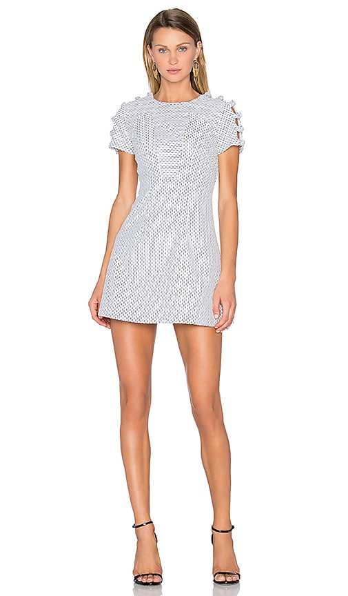By Johnny Knot Sleeve Link Swing Dress in White