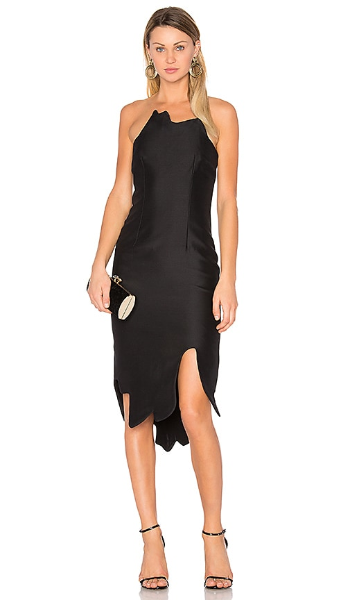 By Johnny Kia Strapless Dress in Black
