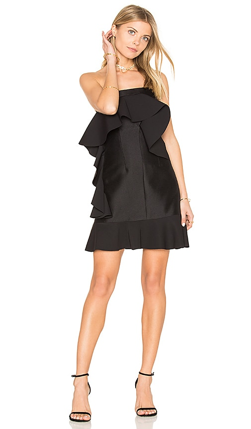 By Johnny Tess Angel Frill Mini Dress in Black