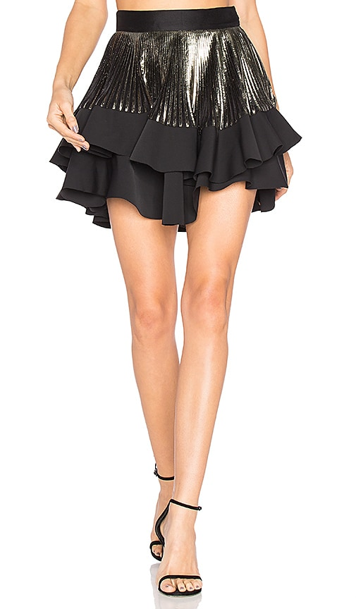 Astrid Tiered Pleat Mini Skirt