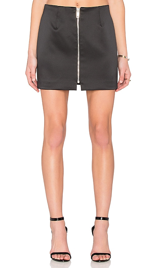 By Johnny Night Shine Zip Mini Skirt in Black
