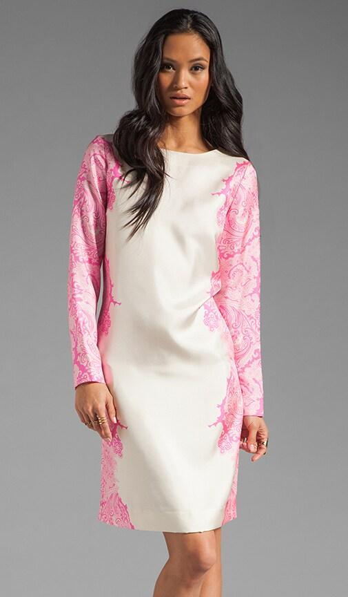 Paisley Flame Silk Mini Dress