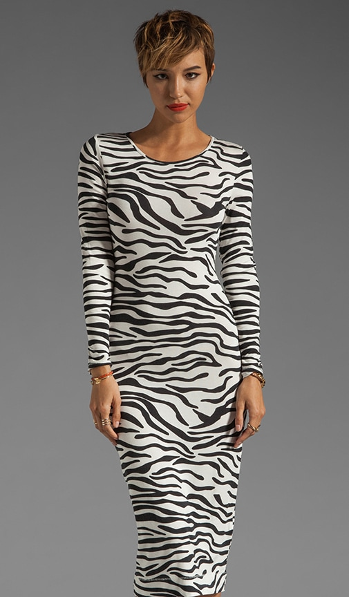Zebra Printed Jersey Husia Dress