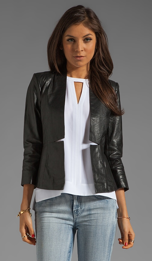 Luxurious Leather Blazer