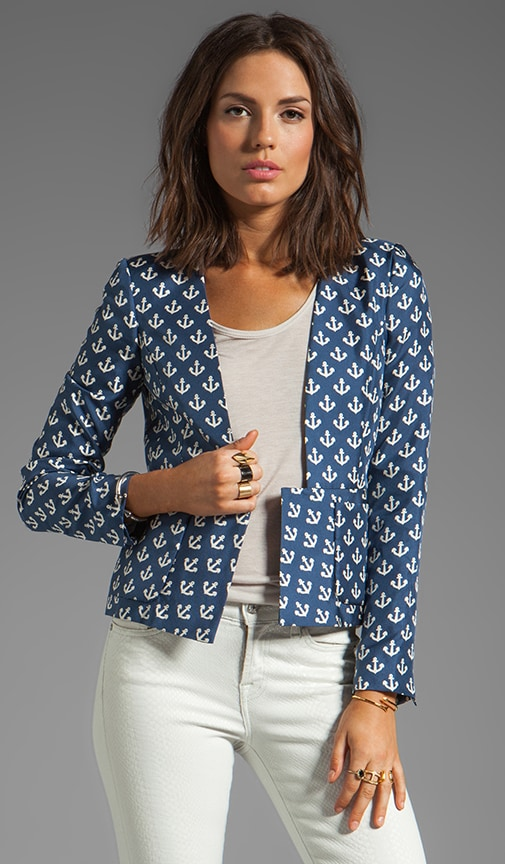 Anchor Delight Ossalli Silk Print Blazer