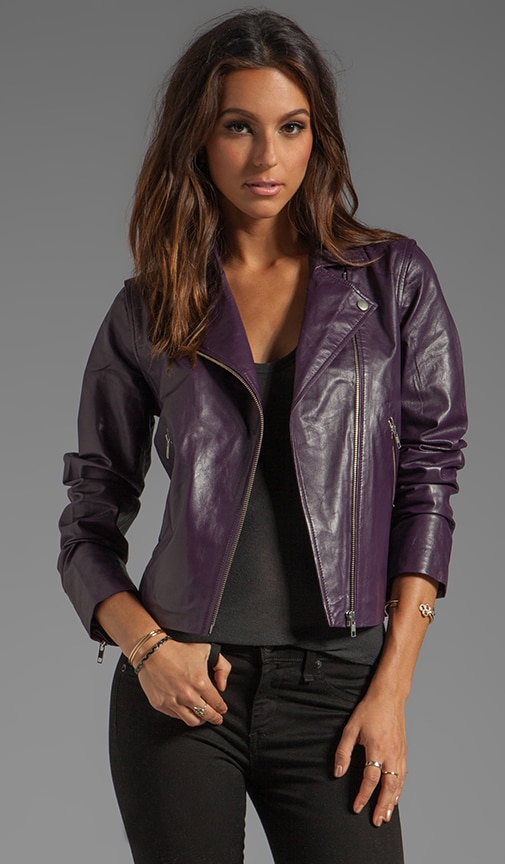 Bright Leather Amadi Jacket
