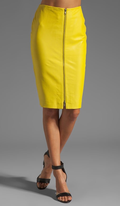 Luxurious Leather Pencil Skirt