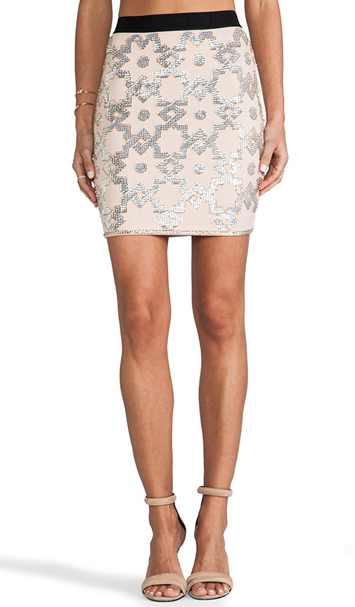 Embellished Stretch Kiala Skirt