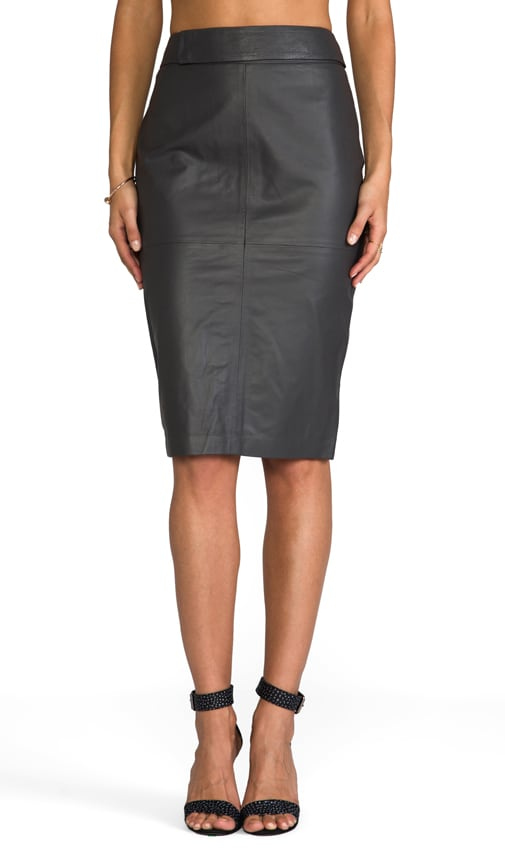 Glamorous Leather Bisai Skirt