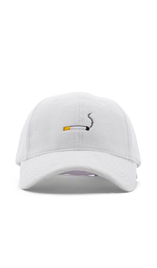 C2H4 Fleece Cigarette Baseball Cap in White