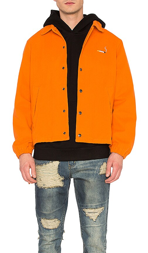 C2H4 Cigarette Coach Jacket in Orange