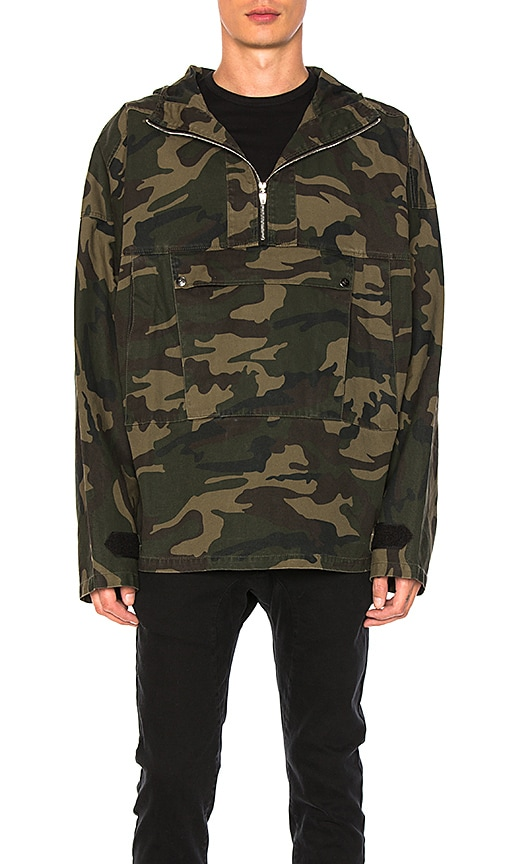 C2H4 Camo Pullover Jacket in Army