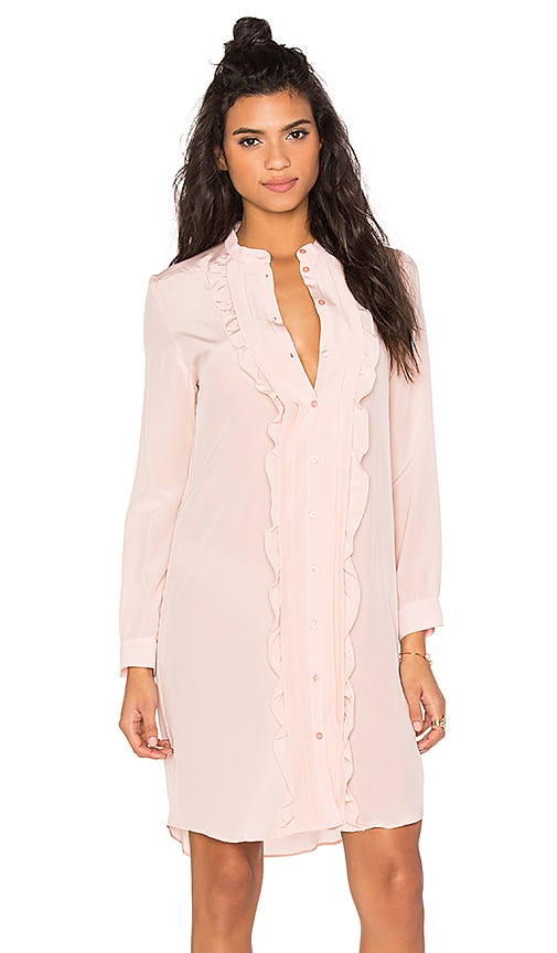 cacharel Ruffle Shirt Dress in Pink