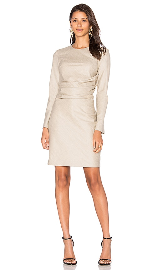cacharel Wool Shift Dress in Beige