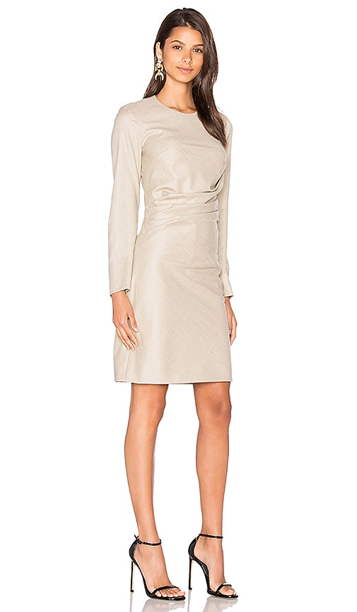 105c0046c6d cacharel Wool Shift Dress in Chamois durable service - www ...