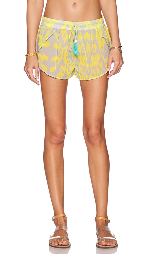 Caffe Short in Yellow & Grey