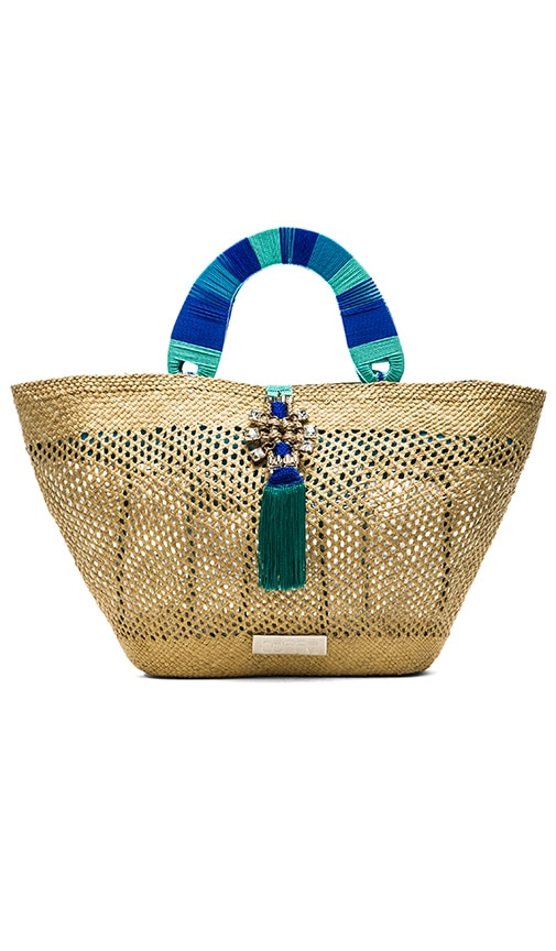 Caffe Woven Tote Bag in Natural