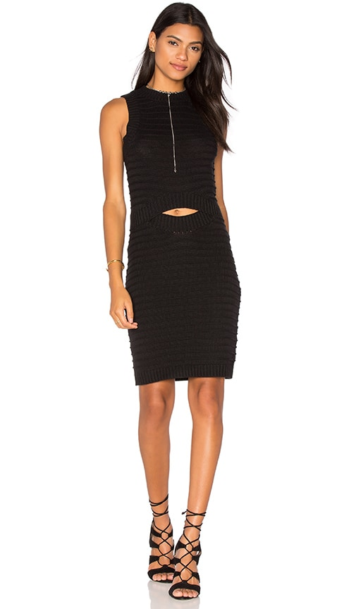 Callahan Cut Out Midi Dress in Black