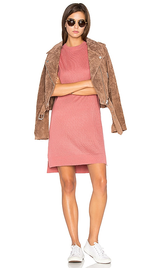 Callahan High Low Sweater Dress in Rose