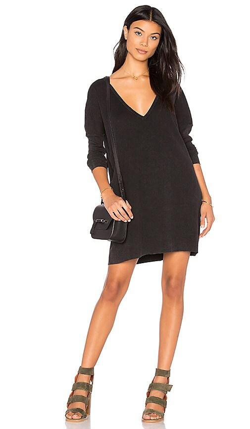 Callahan Enzyme Batwing Mini Dress in Black
