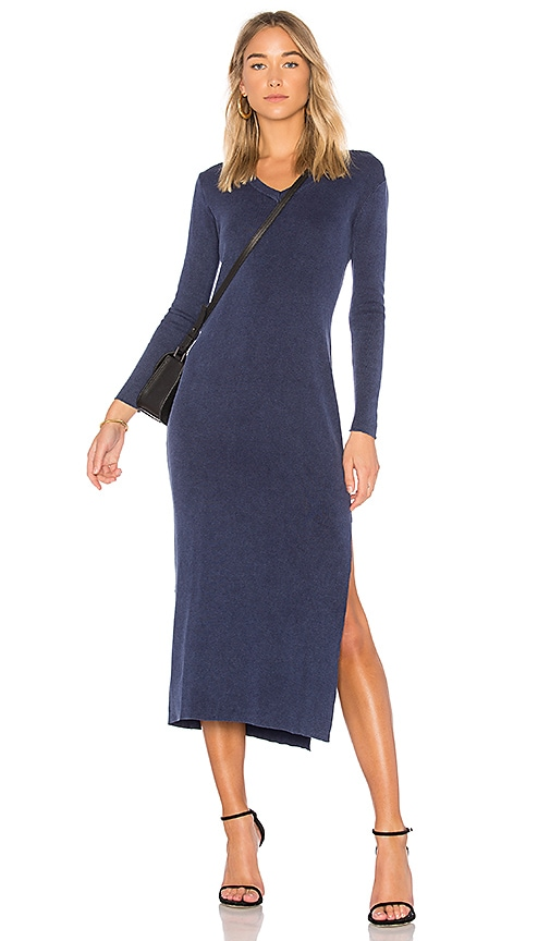 Callahan V Neck Maxi Dress in Navy