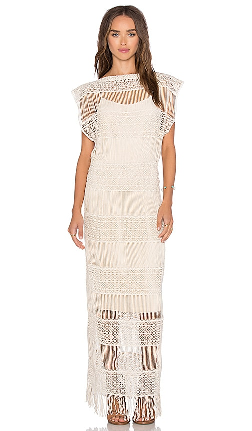 Callahan Crochet Maxi Dress in Cream