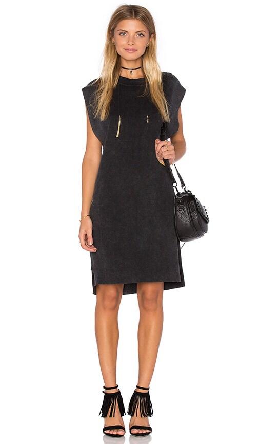 Callahan High Low Mini Dress in Charcoal