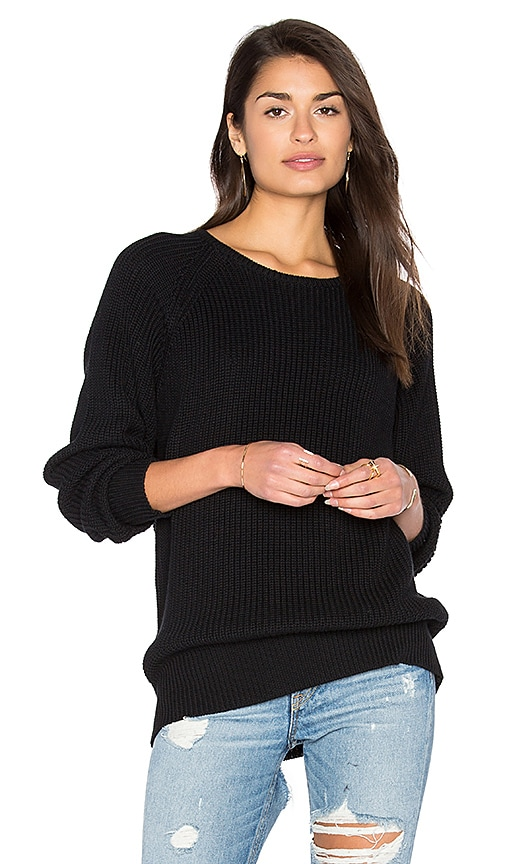 Callahan Boyfriend Sweater in Black