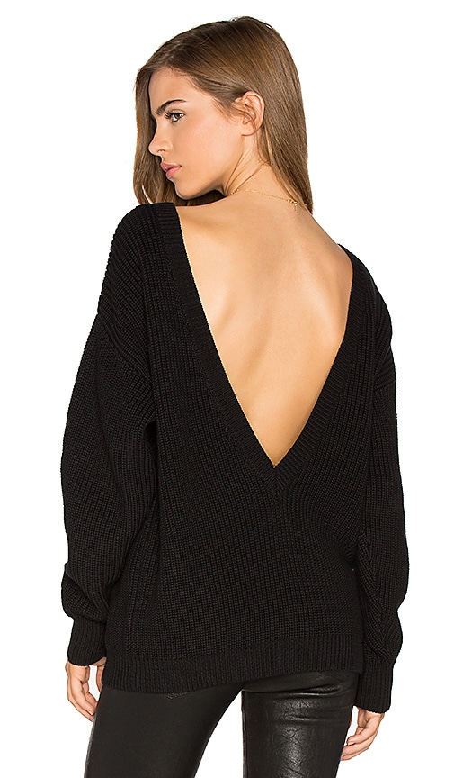 Callahan V Back Sweater in Black