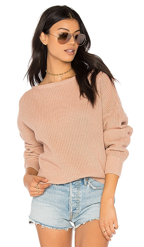 Callahan Fisher Off the Shoulder Sweater in Blush | REVOLVE