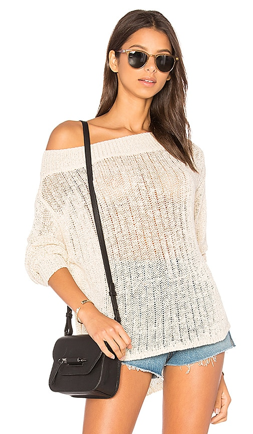 Callahan Off Shoulder Sweater in Ivory