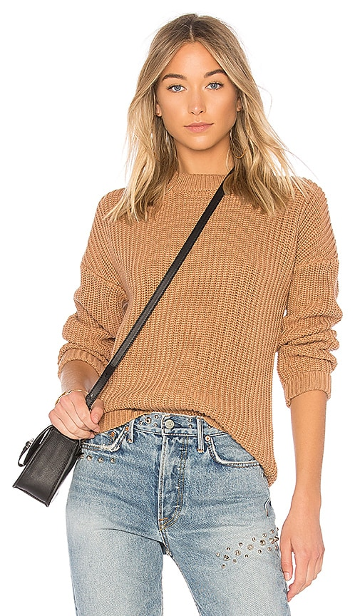 Callahan Shaker Boyfriend Sweater in Brown