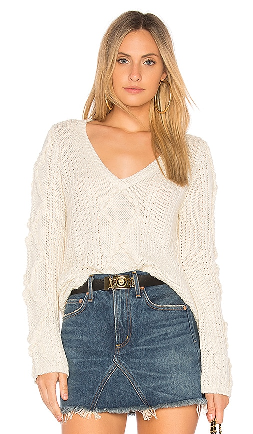 Callahan Nubby Bell Sleeve Sweater in Cream