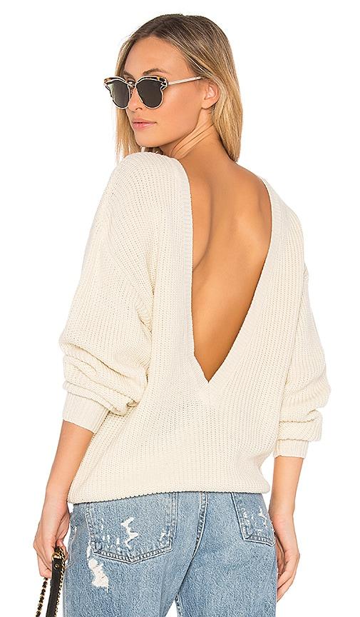 Callahan X REVOLVE Shaker V Back Sweater in Cream